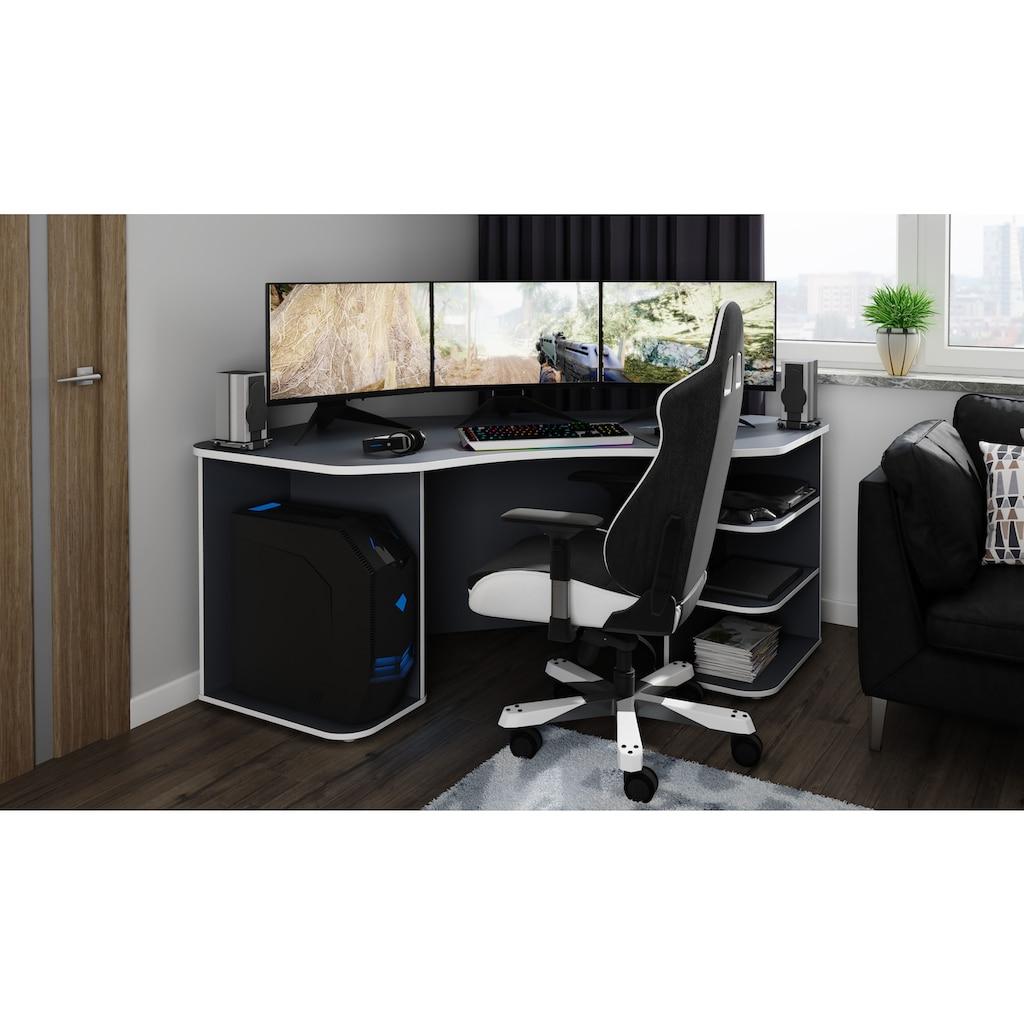 """Homexperts Gamingtisch »Tron«, passend für drei 28"""" Monitore"""