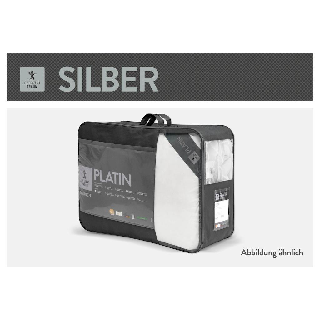 SPESSARTTRAUM Daunenbettdecke »Silber«, warm, Füllung 100% Daunen, Bezug 100% Baumwolle, (1 St.), hergestellt in Deutschland, allergikerfreundlich
