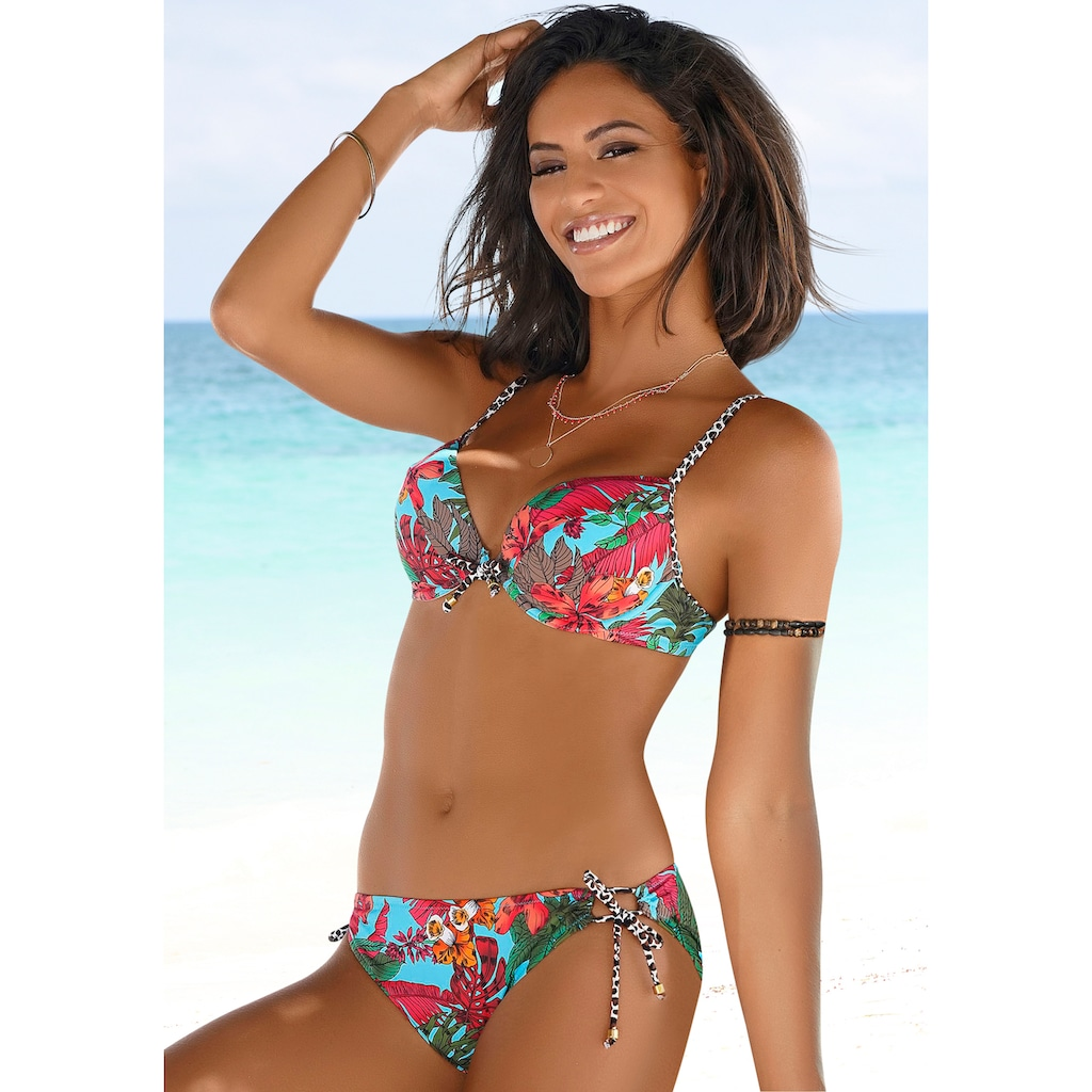 Bruno Banani Push-Up-Bikini, mit Mustermix