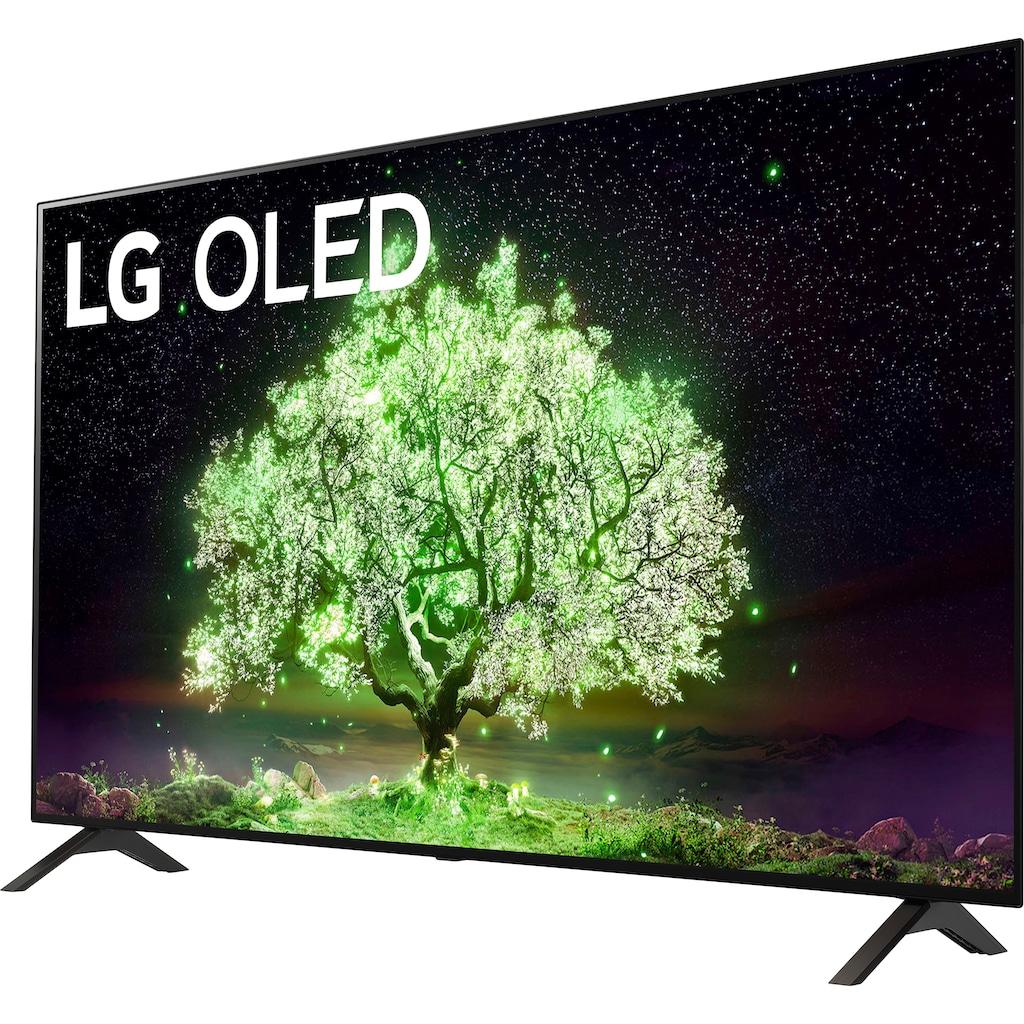 "LG OLED-Fernseher »OLED55A19LA«, 139 cm/55 "", 4K Ultra HD, Smart-TV, (bis zu 60Hz)-α7 Gen4 4K AI-Prozessor-Sprachassistenten-Dolby Vision IQ™-Dolby Atmos®"