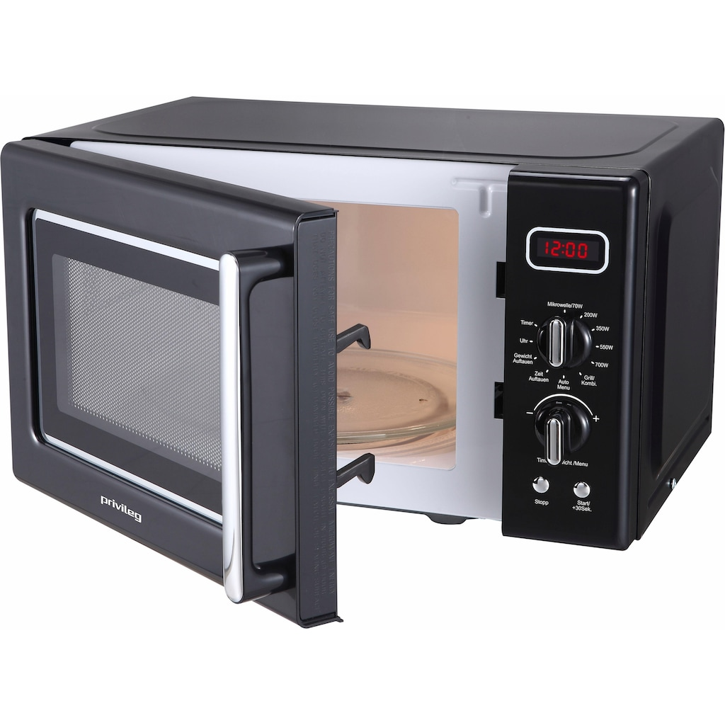 Privileg Mikrowelle »364354«, Grill, 700 W, im Retro-Design, 8 Automatikprogramme