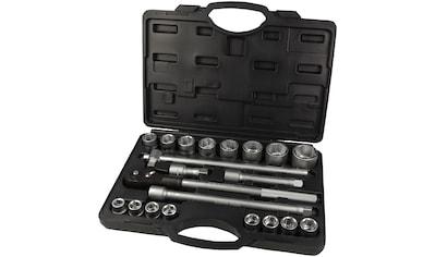 WGB BASIC PLUS Steckschlüsselsatz 21 - tlg. Steckschlüssel - Garnitur, im Kunststoffkoffer kaufen