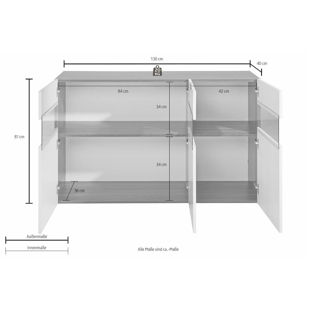 Tecnos Sideboard, Breite 130 cm, ohne Beleuchtung