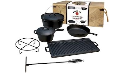 Jim Beam BBQ Topf-Set, Gusseisen, (9 tlg.) kaufen