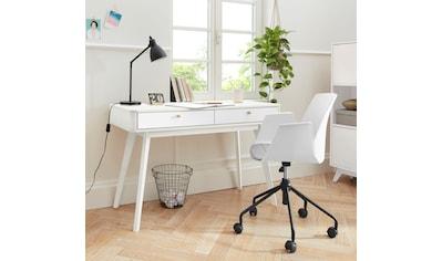 my home Schreibtisch »Finnley«, erstrahlt in einer schönen Holzoptik, mit abgerundeten Kanten, in zwei Farbvarianten, Breite 120 cm kaufen