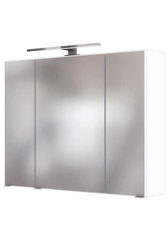 HELD MÖBEL Spiegelschrank »Baabe«, Breite 80 cm, mit 3D-Effekt, dank 3 Spiegeltüren kaufen
