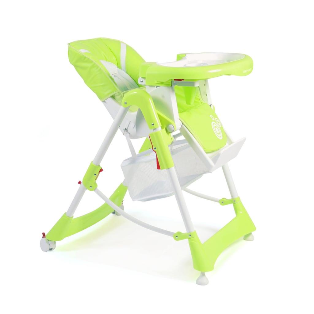 CHIC4BABY Hochstuhl »Enjoy lemongreen«, mit verstellbarer Rückenlehne