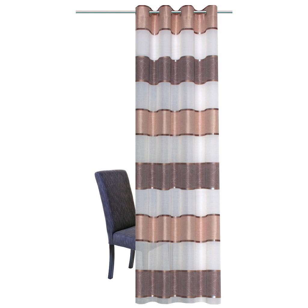HOME WOHNIDEEN Vorhang »WALTERS«, HxB: 245x140, Querstreifen