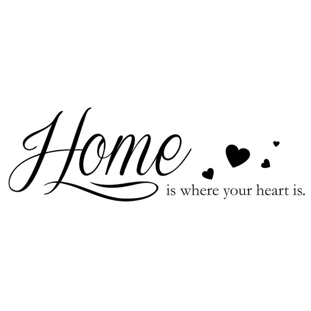 queence Wandtattoo »Home is where your heart is«, 120 x 30 cm