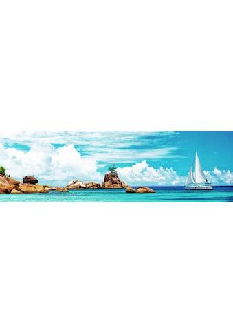 my home Deco-Panel »PANGEA IMAGES / Segelschiff bei den Seychellen«, (120/3/40 cm) kaufen