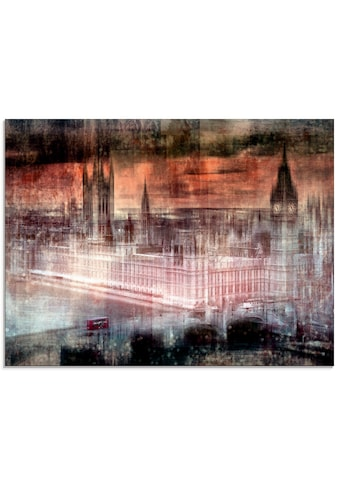 Artland Glasbild »Digitale Kunst London Westminster II«, Gebäude, (1 St.) kaufen