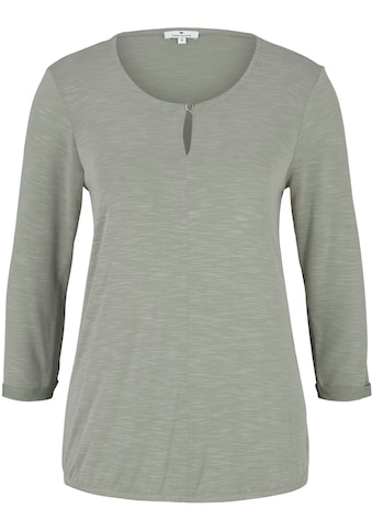 TOM TAILOR Langarmshirt, mit Knöpfchen Detail und elastischem Saum kaufen