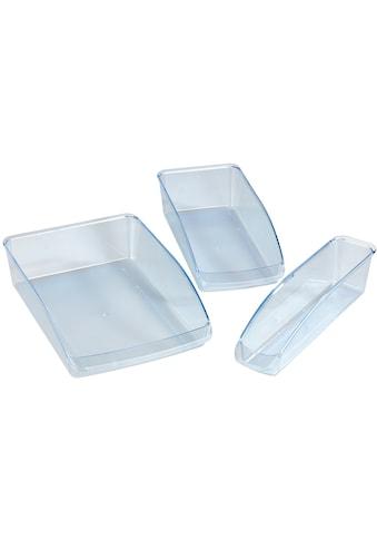 WENKO Aufbewahrungsbox, (Set, 3 St.), Kühlschrank-Organizer aus Kunststoff, schafft... kaufen