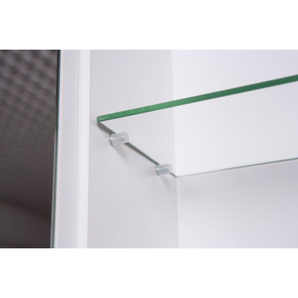 Schildmeyer Spiegelschrank »Verona«, Breite 90 cm, 3-türig, 2 LED-Einbaustrahler, Schalter-/Steckdosenbox, Glaseinlegeböden, Made in Germany
