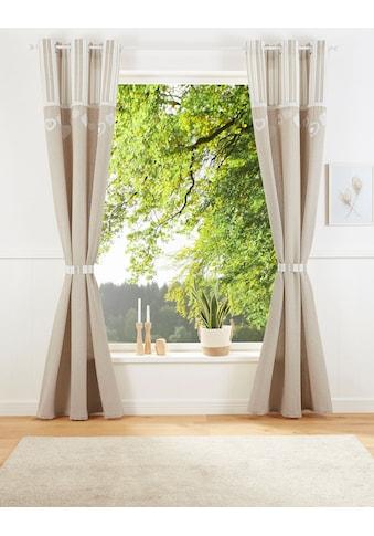Vorhang, »MERLE«, Home affaire, Ösen 1 Stück kaufen