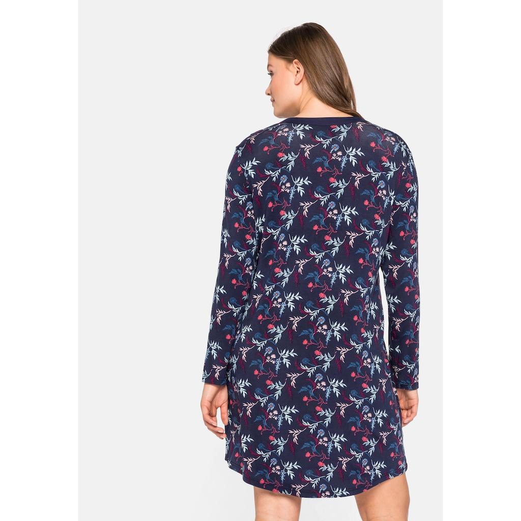 Sheego Nachthemd, mit floralem Alloverdruck