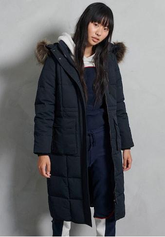 Superdry Winterjacke »LONGLINE FAUX FUR EVEREST COAT«, extra langer Winterparka in... kaufen