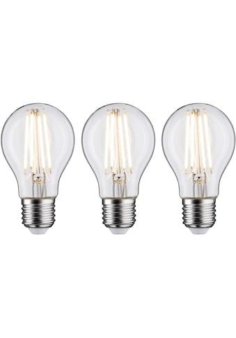 Paulmann LED-Filament »3er Pack 9W E27 2700K klar dimmbar«, E27, 3 St., Warmweiß kaufen