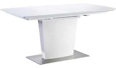 MCA furniture Esstisch »Hanjo«, Esstisch mit Synchronsauszug, Weiß matt mit... kaufen