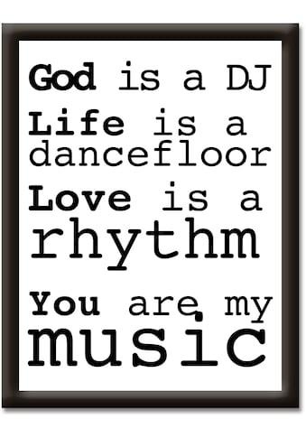Artland Wandbild »Du bist meine Musik« kaufen