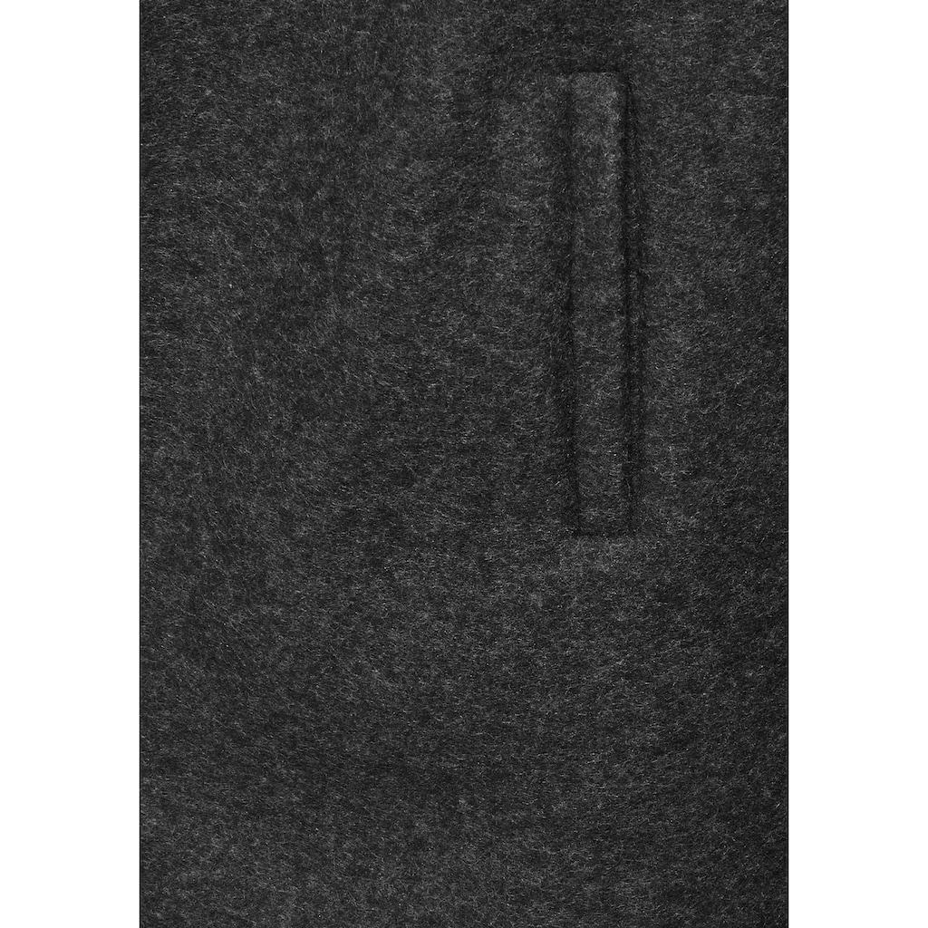 AJC Strickmantel, aus kuscheliger Fleecequalität mit Reverskragen