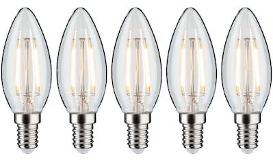 Paulmann LED-Filament »5er Pack 2,6W Kerze E14 klar 2700K«, E14, 5 St., Warmweiß kaufen