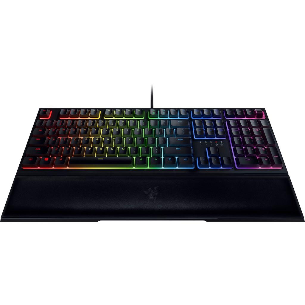 RAZER Gaming-Tastatur »Ornata V2«, (Multimedia-Tasten-Handgelenkauflage-Profil-Speicher)