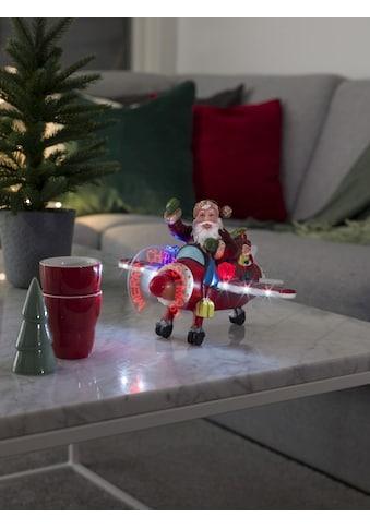 KONSTSMIDE LED Szenerie Weihnachtsmann im Flugzeug kaufen