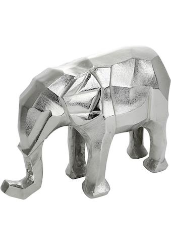 GILDE Dekofigur »Elefant Angular, silberfarben«, Dekoobjekt, Tierfigur, Höhe 25 cm, aus Metall, Wohnzimmer kaufen