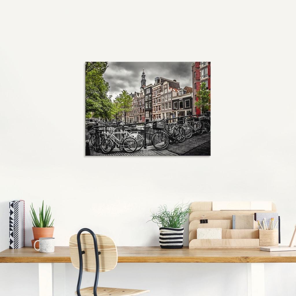 Artland Glasbild »Amsterdam Bloemgracht«, Fahrräder, (1 St.)