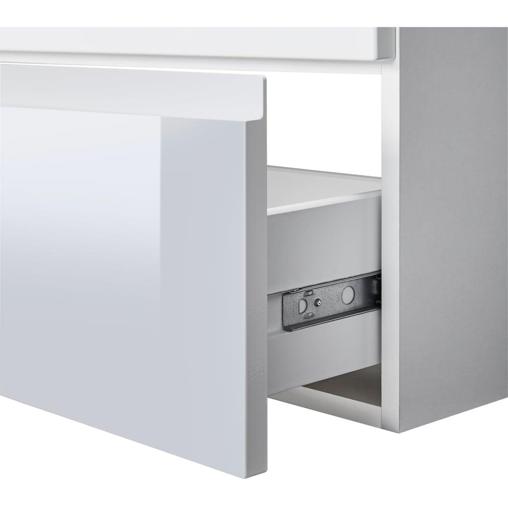 WELLTIME Waschplatz-Set »Barcelona«, Waschtisch, reduzierte Tiefe, 80 cm breit, 2 tlg.