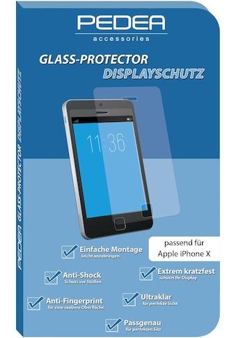 PEDEA Schutzglas »Glas Displayschutz für Apple iPhone X« kaufen