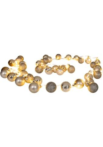 näve LED - Lichterkette »LED - Outdoor - Weihnachtslichterkette l: 150cm gold«, 30  - flammig kaufen