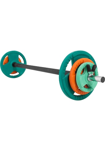 GORILLA SPORTS Hantel-Set »Langhantelset Aerobic Gummi Gripper 19,3 kg«, 19,3 kg, (9... kaufen