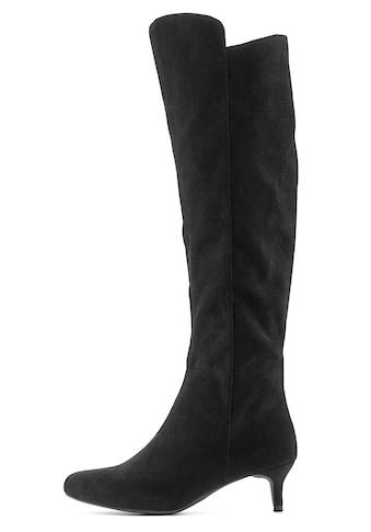 LASCANA Stiefel, mit Langschaft aus softem Velourslederimitat kaufen