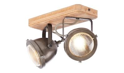 Brilliant Leuchten Carmen Wood Spotbalken 2flg burned steel/holz kaufen