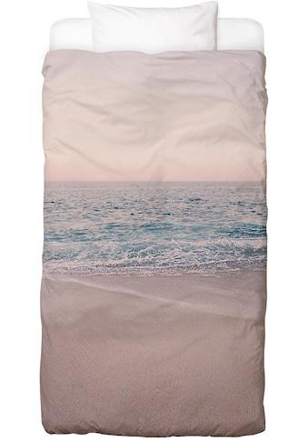 Juniqe Bettwäsche »Rosegold Beach Morning«, In vielen weiteren Designs erhältlich kaufen