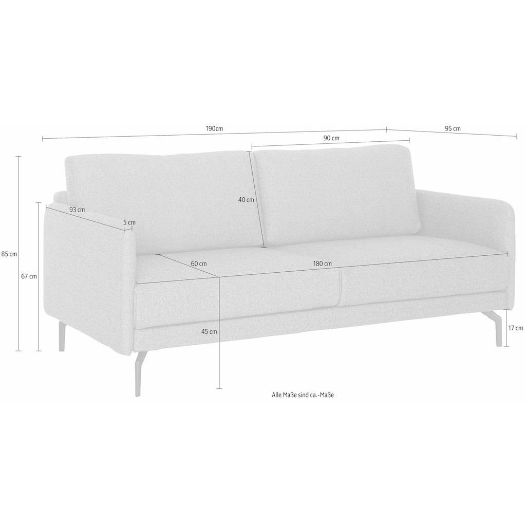 hülsta sofa 3-Sitzer »hs.450«, wahlweise in Stoff oder Leder, mit schmalen Armlehnen