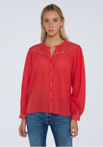 Pepe Jeans Schlupfbluse »CARINA«, mit verspielten Verzierungen aus Spitze kaufen