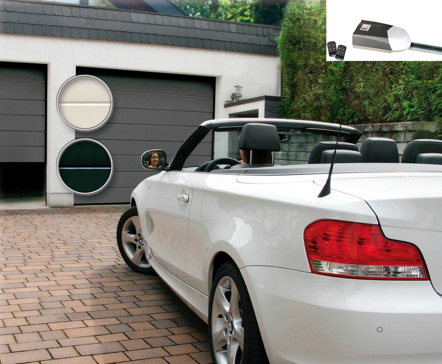 SCHELLENBERG Set: Garagentor BxH: 250x212,5 cm, weiß günstig online kaufen