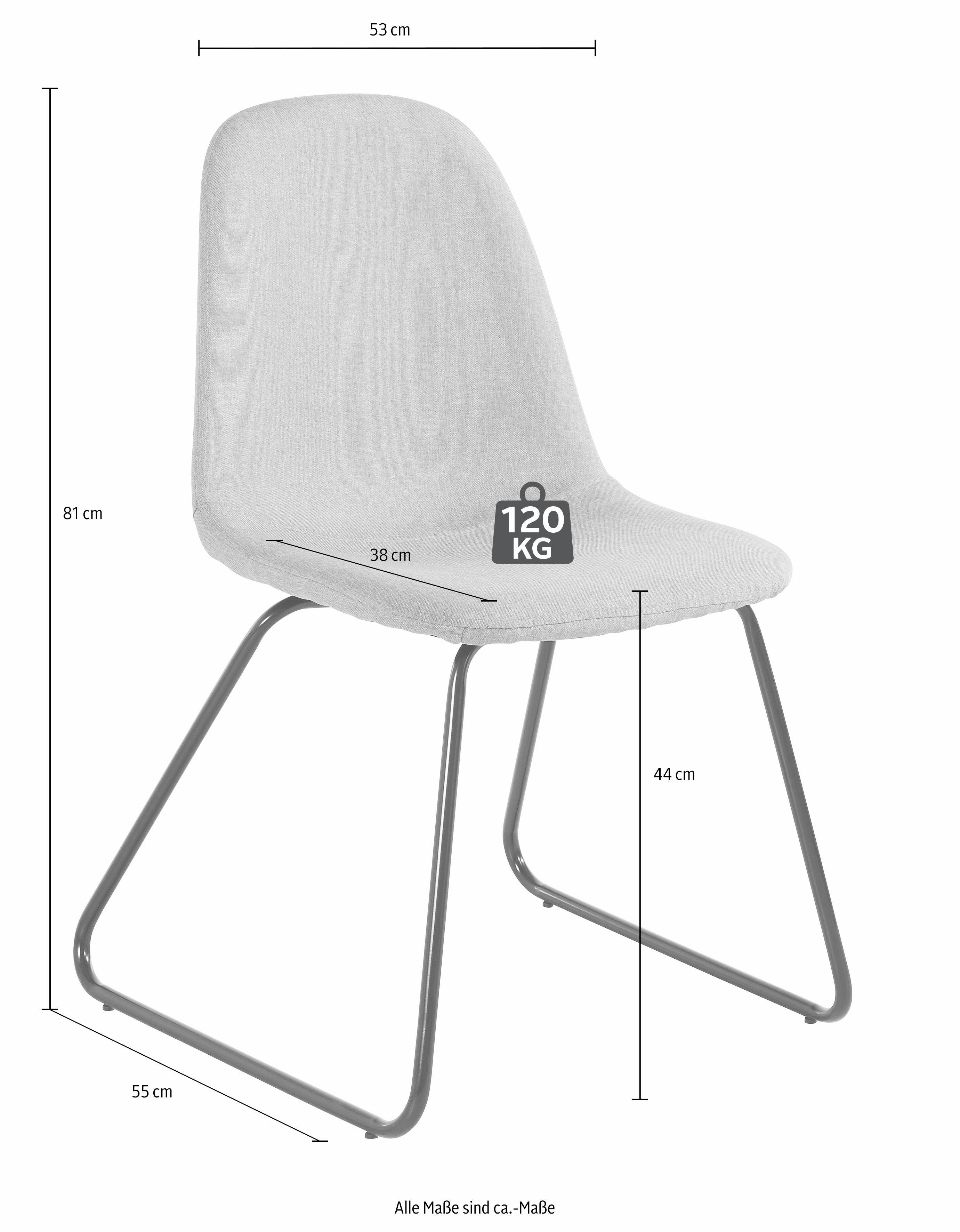Essgruppe 5-teilig mit Glastisch 120 cm breit | Wohnzimmer > Tische > Glastische | Grau | QUELLE