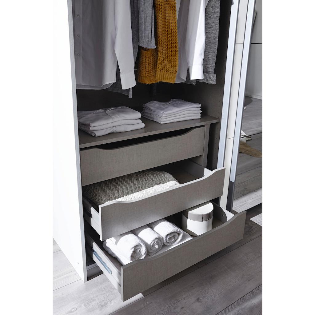 rauch ORANGE Schwebetürenschrank »Quadra«, inkl. Schubkasteneinsatz und zusätzlichen Einlegeböden