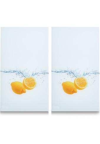 """Zeller Present Schneide -  und Abdeckplatte """"Lemon Splash"""", ESG - Sicherheitsglas, (Set, 2 - tlg.) kaufen"""