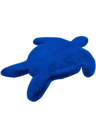 Kinderteppich, »Schildkröte«, Lüttenhütt, Motivform, Höhe 36 mm, handgetuftet kaufen