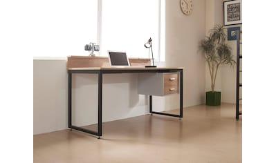 my home Schreibtisch »Wenzel«, Arbeitsplatte Akazie Dekor, gut geeignet für das Home... kaufen