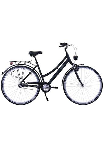 HAWK Bikes Trekkingrad »HAWK Citytrek Lady Premium Black«, 3 Gang, Shimano, Nexus... kaufen