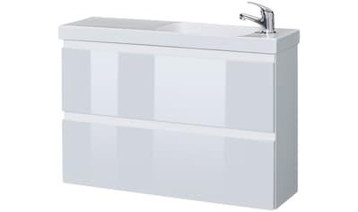 WELLTIME Waschplatz - Set »Barcelona«, Waschtisch, reduzierte Tiefe, 80 cm breit, 2 tlg. kaufen