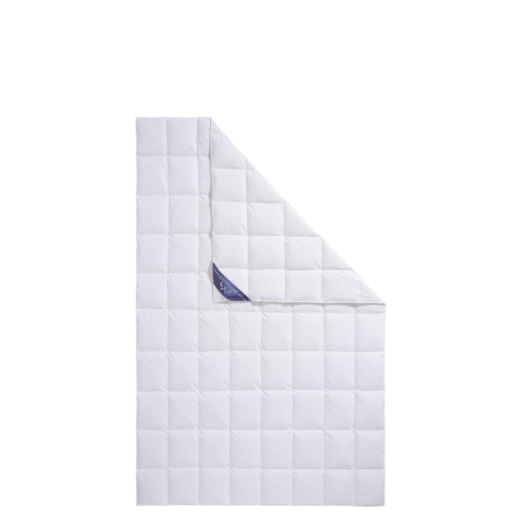 Excellent Daunenbettdecke »Lugano«, leicht, Füllung 100% Daunen, Bezug 100% Baumwolle, (1 St.), hergestellt in Deutschland, allergikerfreundlich