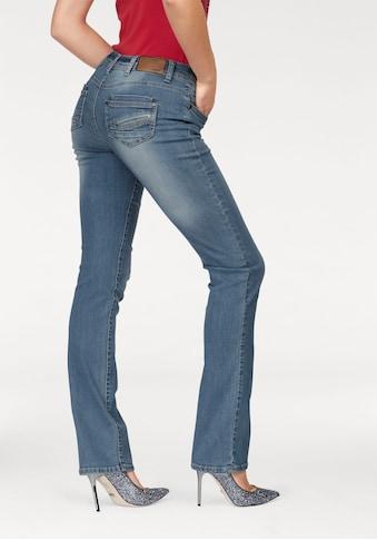 Arizona Gerade Jeans »mit Zippertasche«, Mid Waist kaufen