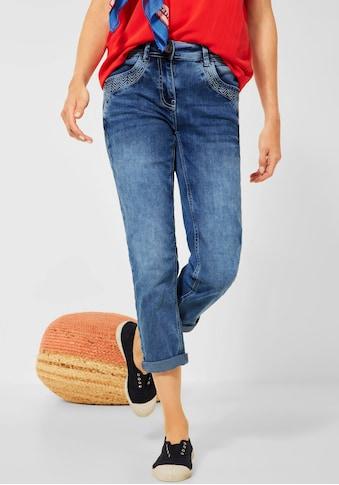 Cecil 3/4-Jeans »Charlize«, mit Stickereien an den Taschen kaufen